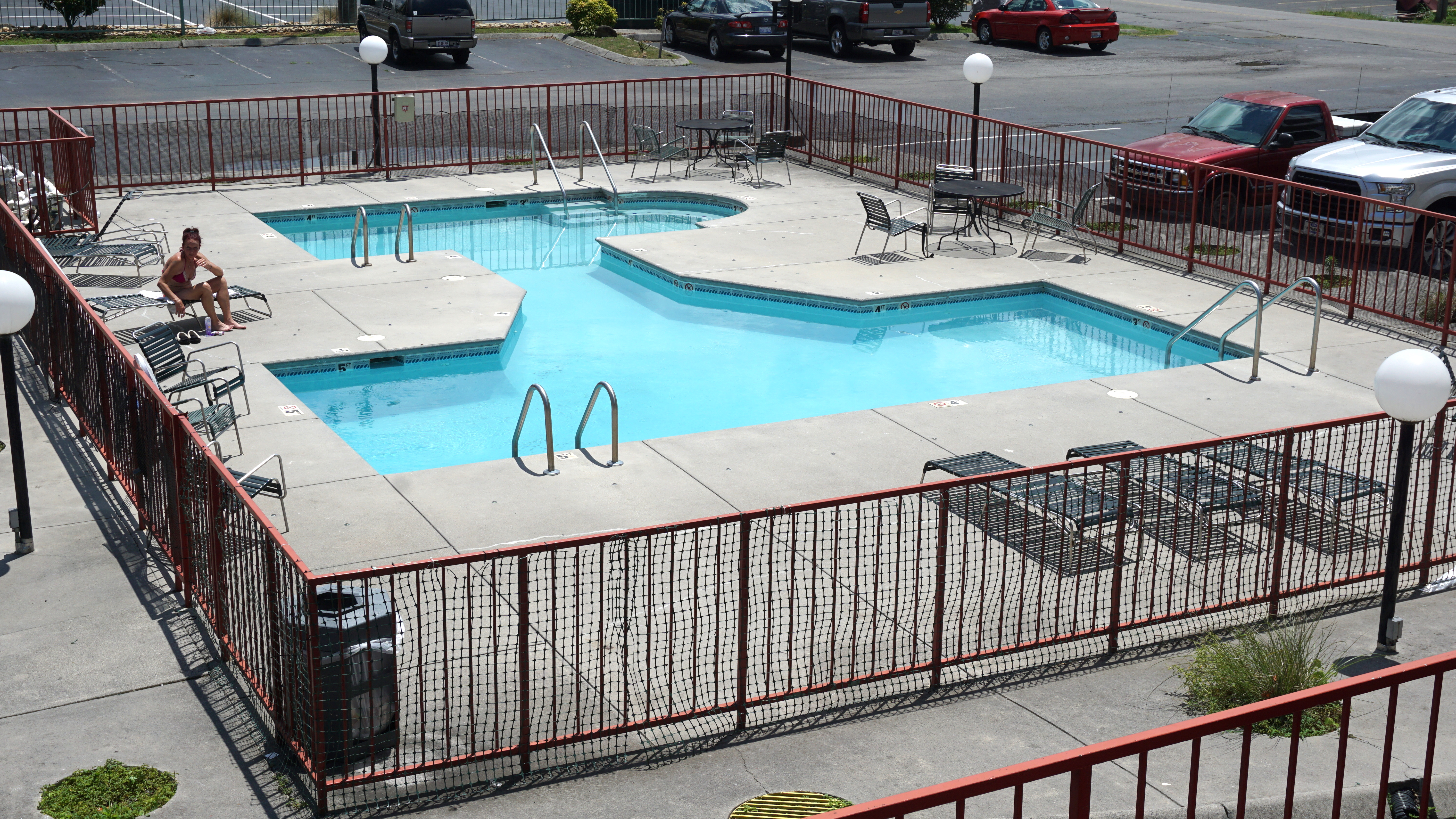 Swimming pool at River Place Inn