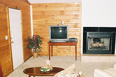 Living area of cabin near Pigeon Forge Tn